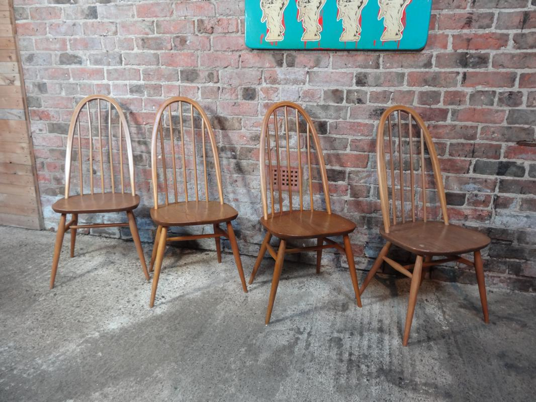 Large Ercol Quaker chairs 4x